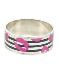 Marc By Marc Jacobs - Purple Lips Print Bangle - Lyst