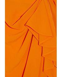 ROKSANDA - Orange Draped Crepe Silk-blend Skirt - Lyst
