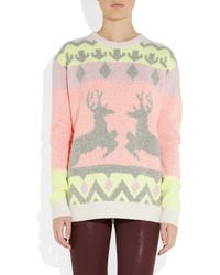 Stella McCartney | Multicolor Reindeer Intarsia Woolblend Sweater | Lyst
