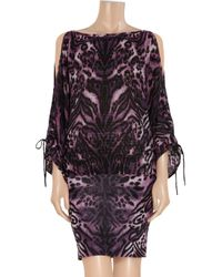 Temperley London | Purple Animal-Print Merino Wool-Blend Dress | Lyst