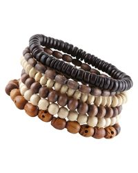 ALDO | Brown Paulding Beaded Bracelets for Men | Lyst