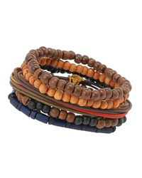 ALDO - Brown Polster Beaded Bracelets for Men - Lyst