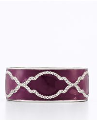 Ann Taylor - Purple Deco Trellis Bangle - Lyst