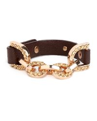 BaubleBar - Brown Gold Horsebit Bangle - Lyst