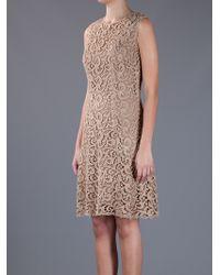 Dolce & Gabbana | Gold Sleeveless Lace Dress | Lyst