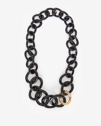 Kara Ross | Black Long Resin Link Necklace | Lyst