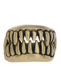 KR3W - Metallic Fang Ring for Men - Lyst
