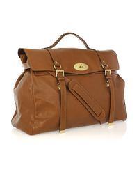 Mulberry - Brown Oversized Alexa Leather Weekend Bag - Lyst