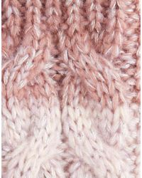 River Island - White Cable Ombre Mittens - Lyst