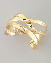 Alexis Bittar - Metallic Bel Air Druzy Ribbon Cuff Bracelet - Lyst