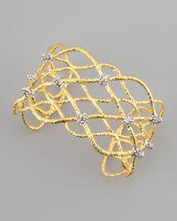 Alexis Bittar - Metallic Siyabona Lattice Cuff Bracelet Golden - Lyst