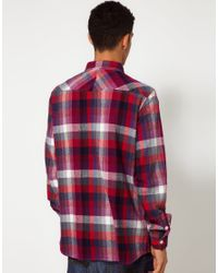 Makia - Red Multicolor Check Shirt  for Men - Lyst