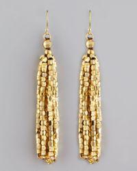 Nakamol - Metallic Faceted Fringe Earrings - Lyst