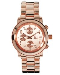 River Island - Metallic Chronograph Emily Rose Watch - Lyst