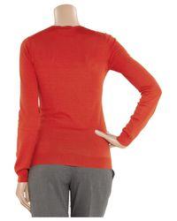 Stella McCartney   Red Fleece Wool Sweater   Lyst