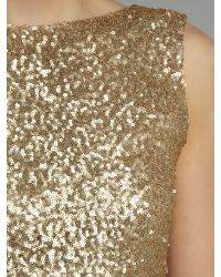 TFNC London | Gold Sequin Sarah High Low Dress | Lyst