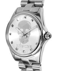 Zadig & Voltaire | Metallic Silver Skull Bracelet Watch | Lyst