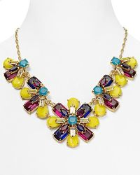 kate spade new york | Multicolor Kaleidoscope Floral Statement Necklace  | Lyst