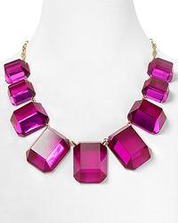 kate spade new york - Purple Jumbo Jewels Graduated Necklace  - Lyst
