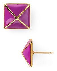 kate spade new york - Purple Locked in Stud Earrings - Lyst