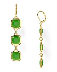 kate spade new york | Green Frame Of Mind Drop Earrings | Lyst
