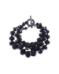 Ted Baker | Black Ted Baker Large Bead Multistrand Bracelet | Lyst