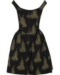 Vivienne Westwood Anglomania | Black Pannier Printed Cotton Dress | Lyst