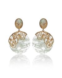 Alexis Bittar | Gold Mauritius Lace Imi Aqua Disc Earrings | Lyst