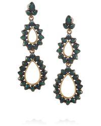 Oscar de la Renta - Green Resin Teardrop Earrings - Lyst