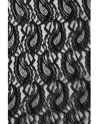 TOPSHOP | Black Paisley Lace Tube Skirt | Lyst