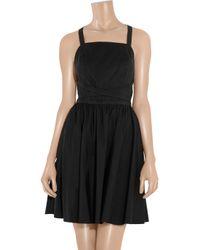 Halston | Black Silkchiffon Gown | Lyst