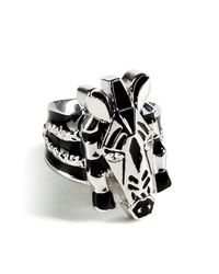 Marc By Marc Jacobs - Metallic Argento Silver Multi Zebra Ring - Lyst