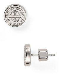 Marc By Marc Jacobs - Metallic Engraved Stud Earrings - Lyst