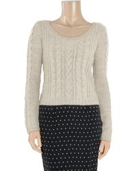 Splendid - Natural Cable-knit Sweater - Lyst