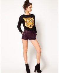 ASOS Collection | Purple Asos Leather Shorts | Lyst