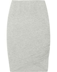 Donna Karan   Gray Stretch Cashmere-blend Skirt   Lyst