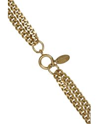 Elizabeth Cole - Metallic 24karat Goldplated Swarovski Crystal Necklace - Lyst