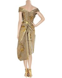 Vivienne Westwood Gold Label | Metallic Cocotte silk-blend jacquard dress | Lyst