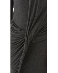 Donna Karan New York   Black Twist Drape Dress   Lyst