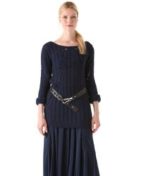 Donna Karan New York | Blue Long Sleeve Top | Lyst