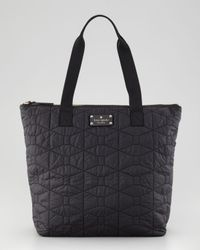 kate spade new york | Black Bon Quilted Nylon Shopper Tote Bag  | Lyst
