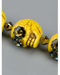 Shebee | Yellow Skull Necklace | Lyst