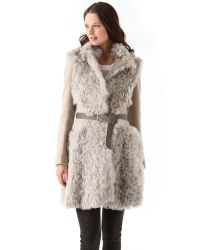 Thakoon - Multicolor Shearling Combo Coat - Lyst