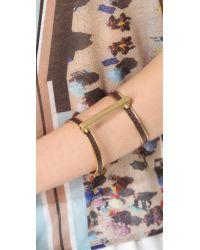 A.L.C. - Metallic Exotic Handcuff Bracelet - Lyst