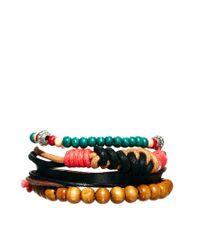 ASOS - Brown Asos Bright Bead and String Bracelet for Men - Lyst