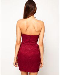 ASOS Red Asos Petites Exclusive Tulip Dress with Jaquard Print