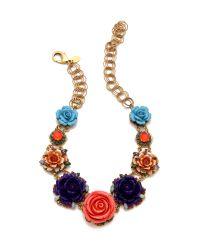 Erickson Beamon | Multicolor Rose Garden Bib Necklace | Lyst