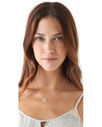 Jennifer Zeuner - Metallic Diamond Eye Necklace - Lyst