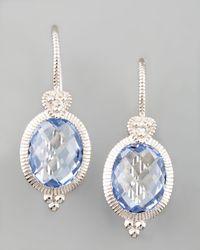 Judith Ripka - Blue Drop Earrings - Lyst