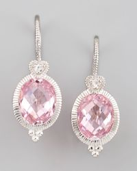 Judith Ripka | Pink Drop Earrings | Lyst